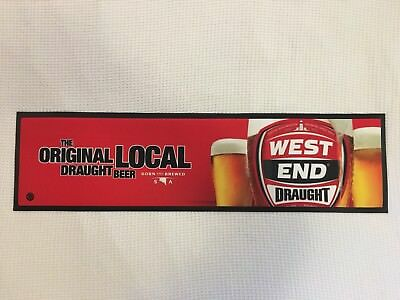 New! WEST END DRAUGHT rubber backed bar runner mat UNUSED!