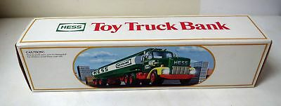 Vintage 1984 HESS TOY TANKER TRUCK BANK MINT UNUSED IN MINT BOX