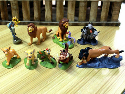 set of 9 pcs The Lion King Disney Cake Topper Action figures Movie Toy Set Simba