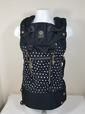 Lillebaby Complete All Seasons Polka Dot Spot On Black Gold Baby Carrier