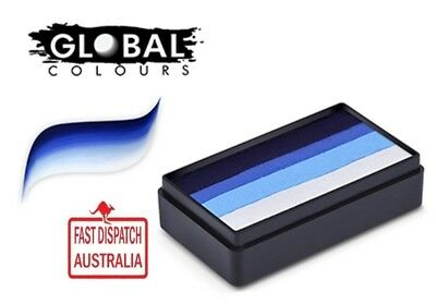 Global Colours 30g MELBOURNE Fun Stroke Cake, Professional Face Paint Party