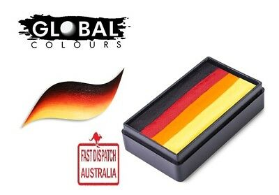 Global Colours 30g MEXICO Fun Stroke rainbow Cake, Professional Face Paint Party