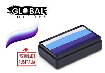 Global Colours 30g MOSCOW Fun Stroke rainbow Cake, Professional Face Paint Party