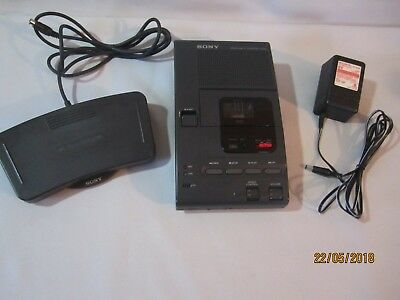 Sony M-2000 MICROCASSETTE TRANSCRIBER Recorder w/ Power Cord & Foot Pedal