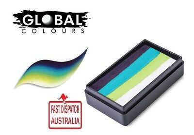 Global Colours 30g TAUPO Fun Stroke rainbow Cake, Professional Face Paint