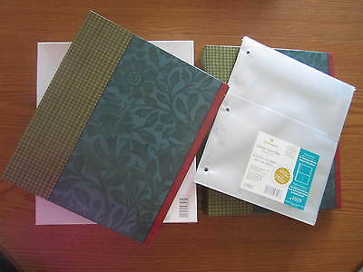 2 New Fall Pattern Hallmark 3 Ring Photo Albums 4 X 6 Pha 7262 + Refill Package