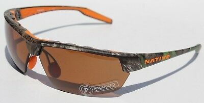 707a756f52b NATIVE EYEWEAR Hardtop Ultra Sunglasses POLARIZED True Timber Camo Brown NEW