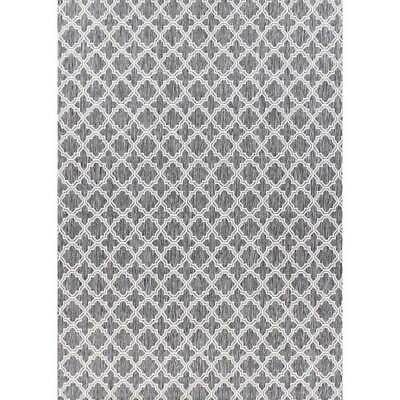 New HALLWAY RUNNER Mat Carpet SEASPRAY Rubber Backed Moroccan Lt Grey 66cm wide