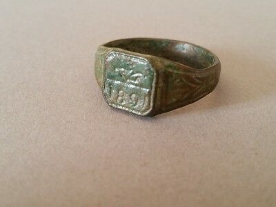 ANTIQUE AUTHENTIC artifact Ottoman bronze RING from 1891