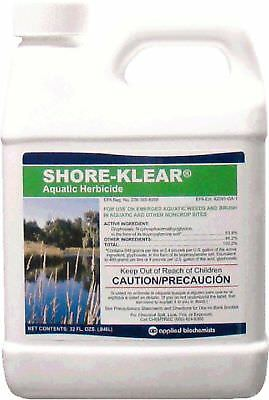 Shore-Klear Aquatic Herbicide Water Treatments, 32 FL.OZ. 0.25 gallon New