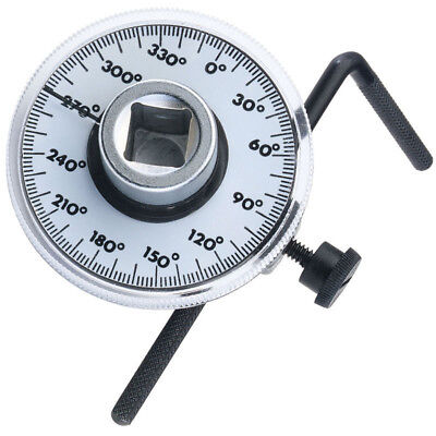 """Measure Tool Angle Gauge Meter Drive Torque Wrench Rotation 360 Degrees 1/2"""" Car"""