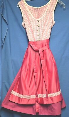 German Oktoberfest dirndl girls magenta check