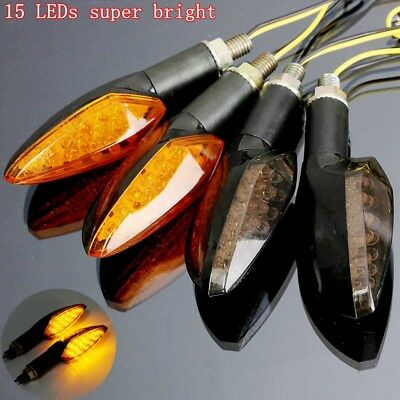 2x Motorcycle 15 LED Turn Signal Light Indicator Lamp Front Rear Motorbike Bike