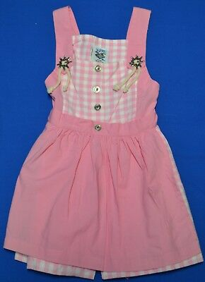 German Oktoberfest dirndl girls/infant pink check EU80 (6-9mo)