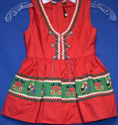 German Oktoberfest dirndl girls red with braid