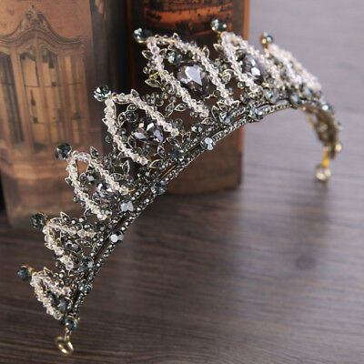 Baroque Rhinestone Bridal Crown Tiaras Crystal Diadem Tiaras Wedding Headband