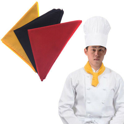 Red Yellow Black Chef Clothing Accessories Scarf Catering Neckerchief Neck Decor