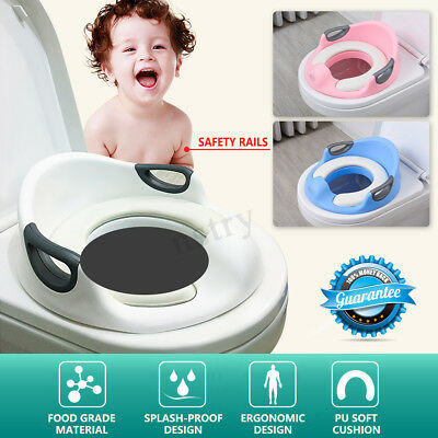 2 in 1 Kids Toddler Adult Family Potty Training Toilet Seat Chair Cover 3 Colors
