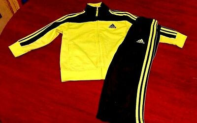 Adidas Infants Boys Zipped Tracksuit Track Top & Bottoms Set Size 24 months