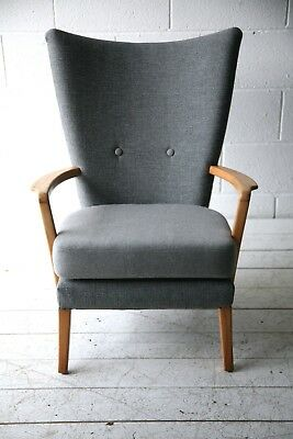 Beautiful Rare Vintage 1950s Modernist Armchair Chair by Howard Keith