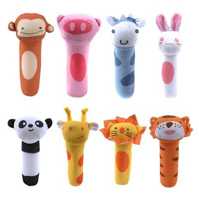 Baby Hand Bell Stick, Animal Shaped Catoon Hand Rattle Toys, Kid Plush Soft Toy