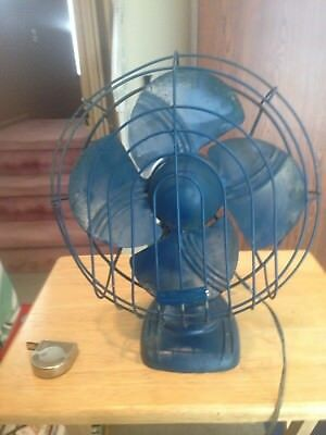 "Vintage 1940/50S  Dominion Model 2010  Electric 12"" Fan Works Does Not Oscillate"