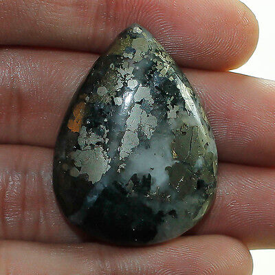 55 Cts. 100% NATURAL PYRITE LOOSE CABOCHON GEMSTONE (NZ219)