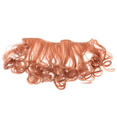Red Brown 15cm Rinka Haircut DIY Doll Wig Curly Haircut for Dolls Accessory