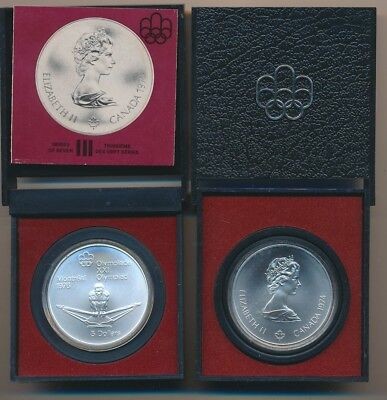 Canada: 1974 $5 Olympics - Rower 925 Silver UNC, 24.30g in Official Mint Package
