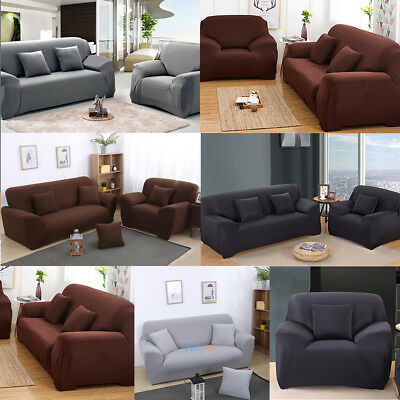 Stretch 1/2/3 Seater Chair Sofa Loveseat Slipcover Furniture Cover Protector