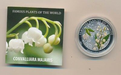 Benin: 2011 100 Fr Lily of the valley  Coloured Proof Like w Scent, 27g 38.61mm