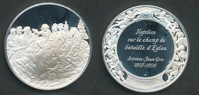 France: Louvre - Napoléon on the Battlefield of Eylau 40g Silver Medal, 45mm