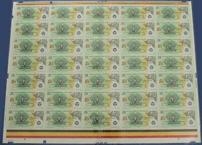 Papua New Guinea: 2000 2 Kina Anniv Commem UNCUT SHEET of 35. P21 UNC Cat $233*