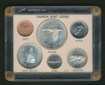 CANADA: 1967 Confederation 1c-$1 Set, 4 Silvers 1.11oz ASW, in Presentation Case