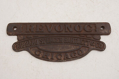 Revonoc Hibbard Spencer Bartlett & Co Chicago Cast Iron Sign Stove Hardware(C5R)