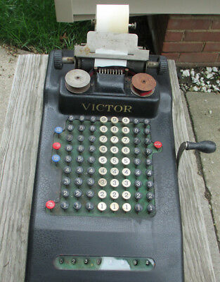 Antique 8 Row  VICTOR ADDING MACHINE Collectible calculator Early 1900's