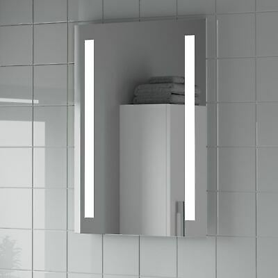 Modern LED Illuminated Bathroom Mirror Battery Operated Rectangular 500 x 650mm