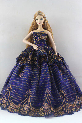 Fashion Princess Party Dress/Evening Clothes/Gown For Barbie Doll p04