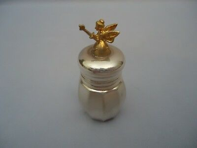 EMPIRE Tooth Fairy Box Sterling Silver with Gold Plated 3D Tooth Fairy on Lid