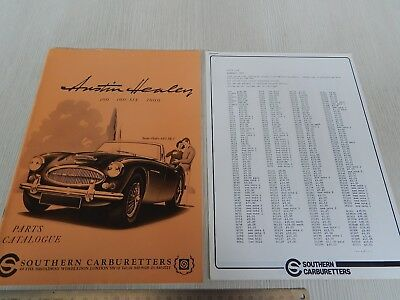 catalogo ricambi originale 1982 Southern Carburetters Austin Healey 3000 100 six