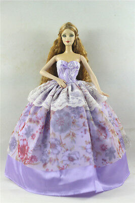 Fashion Princess Party Dress/Evening Clothes/Gown For Barbie Doll p13