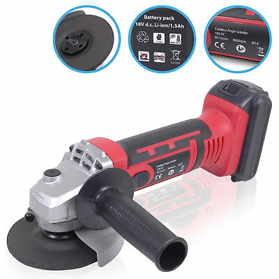 """800w 115mm 4½"""" 18v ELECTRIC CORDLESS LI ION POWER DISC ANGLE GRINDER CUTTER KIT"""