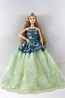 Fashion Princess Party Dress/Evening Clothes/Gown For Barbie Doll p20