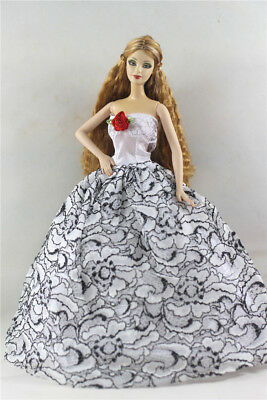 Fashion Princess Party Dress/Evening Clothes/Gown For Barbie Doll p31