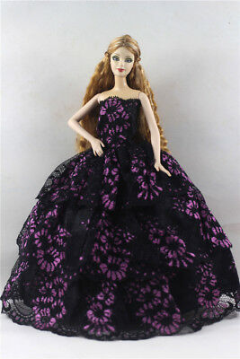 Fashion Princess Party Dress/Evening Clothes/Gown For Barbie Doll p32