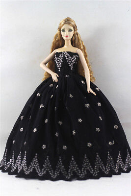 Fashion Princess Party Dress/Evening Clothes/Gown For Barbie Doll p48