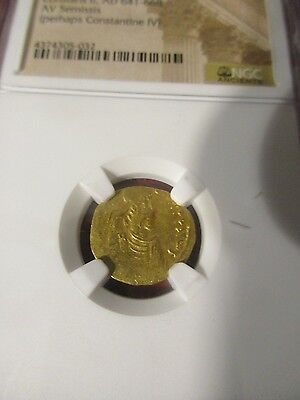 Ancient Gold Coin - Byzantine Empire - Constans II, AD 641-668