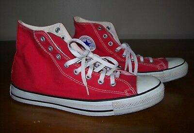 Vintage Converse All Star Red High Top Sneakers- Size 11-Chucks-Made in the USA
