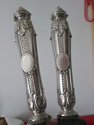 Antique AESTHETIC Period 2 pc FRENCH - STERLING Handled  - MEAT CARVING SET