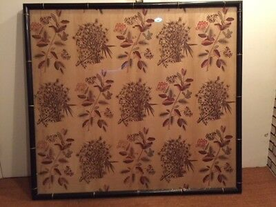 Framed Antique Late 18th/Early 19th Century Indienne Chintz Printed Cotton